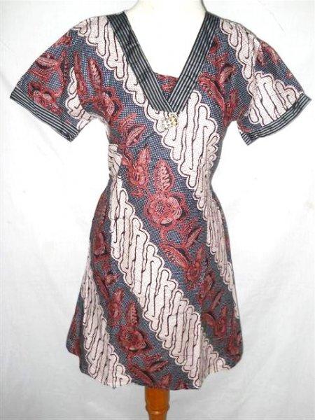 Baju Gaun Batik Sackdress Gr 25 A Toko Baju Pakaian